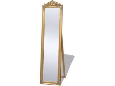 Miroir sur pied Style baroque 160 x 40 cm Doré - vidaXL