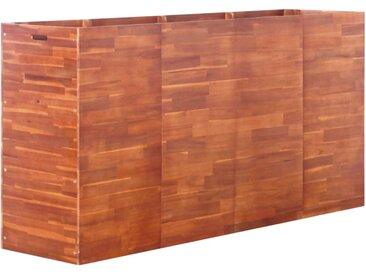 Lit surélevé de jardin Bois d'acacia 200x50x100 cm - vidaXL