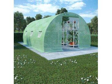 Serre avec fondation en acier 13,5 m² 450x300x200 cm - vidaXL