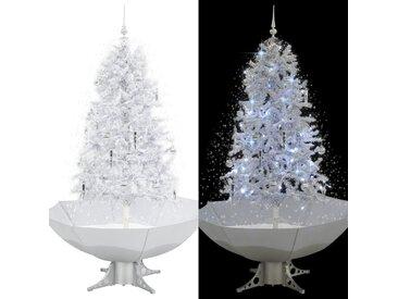 Arbre de Noël neigeux avec base de parapluie Blanc 170 cm - vidaXL