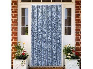 Moustiquaire Bleu blanc et argenté 90x220 cm Chenille - vidaXL