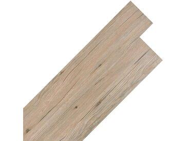 Planche de plancher PVC autoadhésif 5,02 m² 2 mm Marron chêne - vidaXL