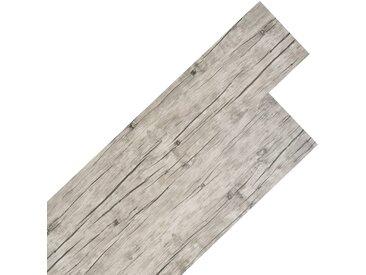 Planche de plancher PVC 5,26 m² 2 mm Couleur de chêne délavé  - vidaXL