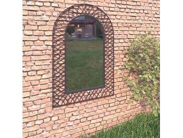 Miroir mural de jardin Voûtée 50 x 80 cm Noir - vidaXL