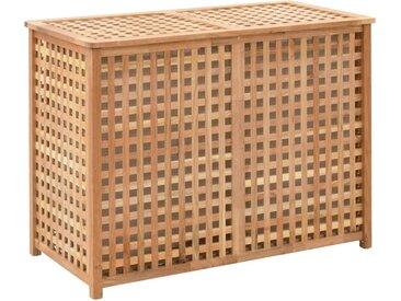Coffre a linge 87,5x46x67 cm Bois de noyer massif - vidaXL