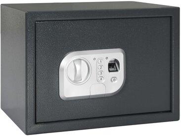 Coffre-fort numérique Empreinte digitale Gris foncé 35x25x25 cm - vidaXL