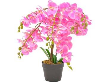 Plante artificielle avec pot Orchidée Rose 60 cm - vidaXL