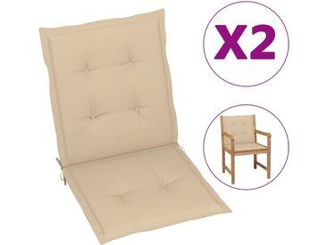 Coussins de chaise de jardin 2 pcs Beige 100 x 50 x 3 cm - vidaXL