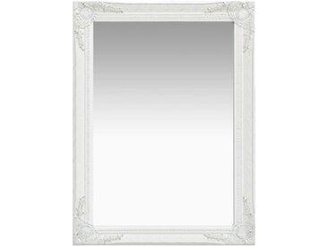 Miroir mural style baroque 60x80 cm Blanc - vidaXL