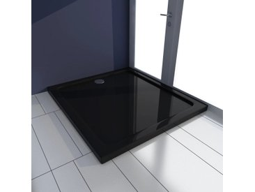 Receveur de douche rectangulaire ABS Noir 80 x 90 cm - vidaXL