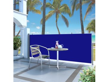Auvent latéral rétractable 140 x 300 cm Bleu - vidaXL