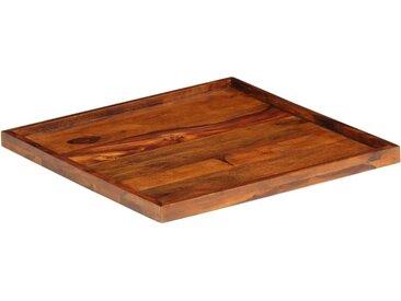 Plateau de service Bois solide de Sesham 50 x 50 cm - vidaXL