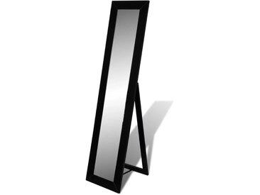 Miroir en pied noir   - vidaXL
