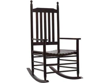 Chaise à bascule avec siège incurvé Marron Bois de peuplier - vidaXL