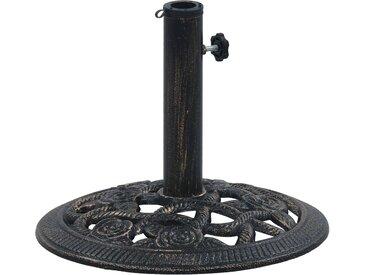 Socle de parasol Noir et bronze 9 kg 40 cm Fonte - vidaXL
