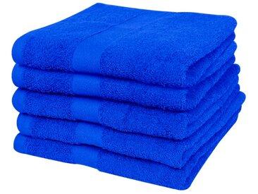 Serviette de douche 5 pcs Coton 500 gsm 100x150 cm Bleu royal  - vidaXL
