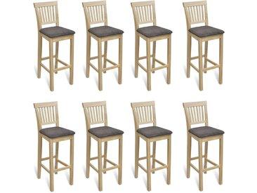 Chaises de bar 8 pcs Bois - vidaXL