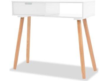Table console Bois de pin massif 80 x 30 x 72 cm Blanc - vidaXL