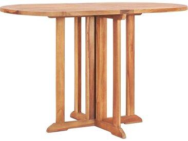 Table pliable de jardin papillon 120x70x75 cm Bois teck solide - vidaXL