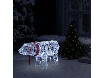 Décoration lumineuse de Noël Ours 45 LED 71x20x38 cm Acrylique - vidaXL