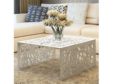 Table basse argentée Design géométrique Aluminium  - vidaXL