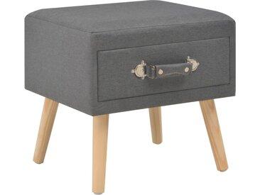 Table de chevet Gris foncé 40x35x40 cm Tissu  - vidaXL