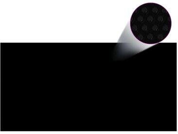 Couverture de piscine Noir 975 x 488 cm PE - vidaXL