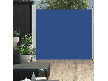 Auvent latéral rétractable de patio 170x300 cm Bleu - vidaXL