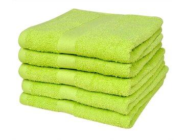 Serviette pour douche 5 pcs Coton 500 gsm 70x140 cm Vert pomme  - vidaXL