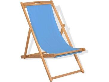 Chaise de terrasse Teck 56 x 105 x 96 cm Bleu - vidaXL