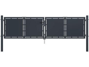 Portail de jardin Acier 300 x 100 cm Anthracite - vidaXL