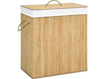 Panier à linge Bambou 100 L - vidaXL