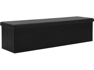 Banc de rangement pliable Similicuir 150 x 38 x 38 cm Noir - vidaXL