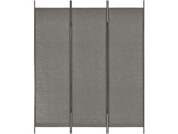 Cloison de séparation 3 panneaux Anthracite 150x180 cm  - vidaXL