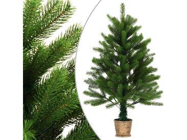 Sapin de Noël artificiel avec panier 90 cm Vert - vidaXL
