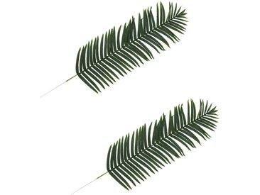 2 pcs Feuilles artificielles de palmier Vert 160 cm - vidaXL