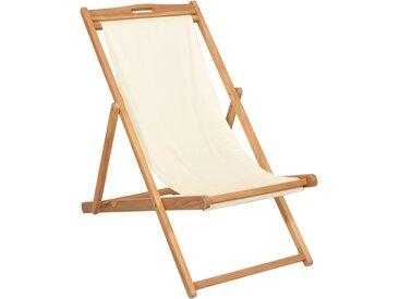 Chaise de terrasse Teck 56 x 105 x 96 cm Couleur crème - vidaXL