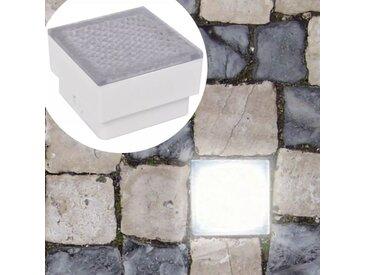 Lampes LED enterrées 12 pcs 100x100x68 mm  - vidaXL