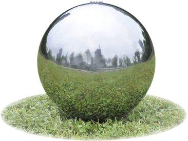 Sphère de fontaine de jardin avec LED Acier inoxydable 20 cm - vidaXL