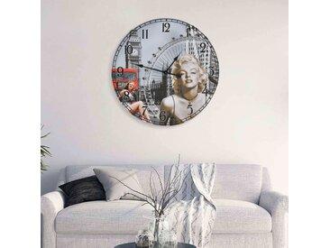 Horloge murale vintage Marilyn Monroe 60 cm - vidaXL