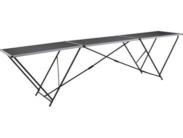 Table à coller pliable MDF et aluminium 300 x 60 x 78 cm - vidaXL