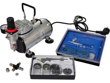 Kit de compresseur d'aérographe avec 2 pistolets  - vidaXL