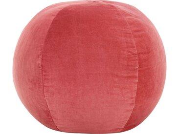 Pouf Velours de coton 50 x 35 cm Rose - vidaXL