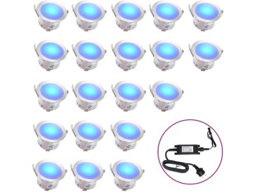 Lampes de sol à LED 20 pcs Bleu  - vidaXL