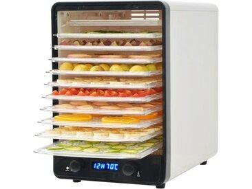 Déshydrateur alimentaire avec 10 plateaux 550 W Blanc - vidaXL