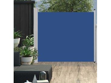 Auvent latéral rétractable de patio 100x300 cm Bleu - vidaXL