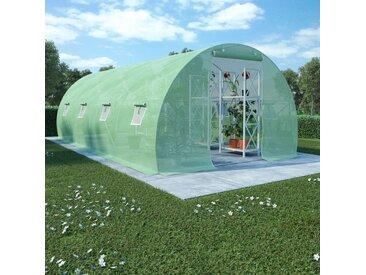 Serre avec fondation en acier 18 m² 600x300x200 cm - vidaXL