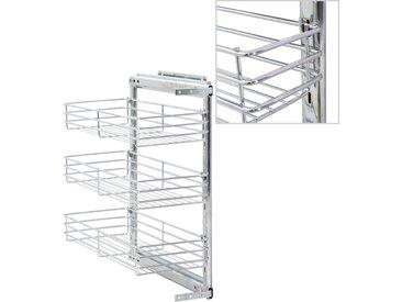 Panier à 3 niveaux métallique de cuisine 47x25x56 cm - vidaXL