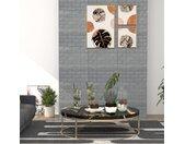 Papier peint 3D autoadhésif Briques 40 pcs Anthracite - vidaXL