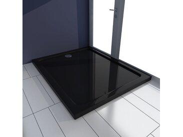 Receveur de douche rectangulaire ABS Noir 80 x 100 cm - vidaXL